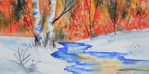 Winter Landscape Paint Party
