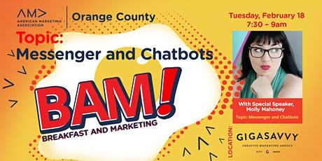 BAM!  FB Messenger and Chatbots tickets