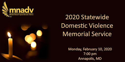 2020 Statewide Domestic Violence Memorial Service