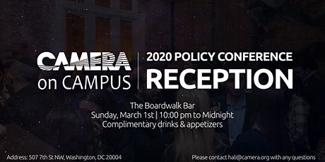 CAMERA on Campus AIPAC Policy Conference Reception 2020 tickets