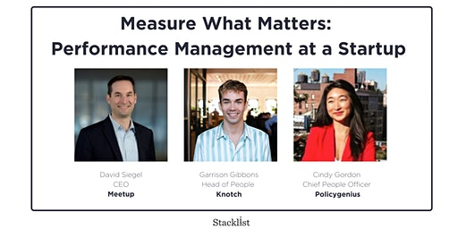 Measure What Matters: Performance Management at a Startup
