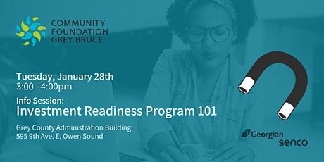 Info Session: Investment Readiness Program 101 tickets