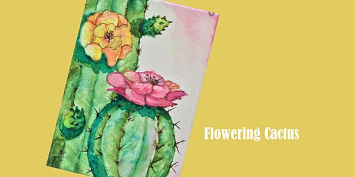 Flowering Cactus Paint Party