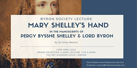 Mary Shelley's hand in the manuscripts of Percy Bysshe Shelley & Lord Byron tickets
