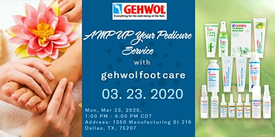 AMP UP Your Med Pedicure and Manicure Service with GEHWOL Foot Care – Dallas, TX