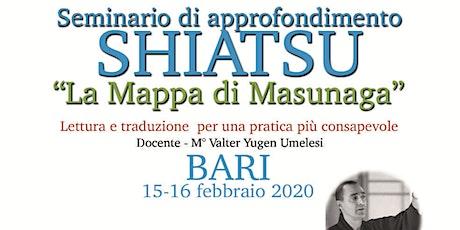 """Seminario di Approfondimento Shiatsu """"La mappa di Masunaga"""" biglietti"""