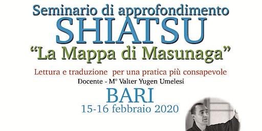 """Seminario di Approfondimento Shiatsu """"La mappa di Masunaga"""""""