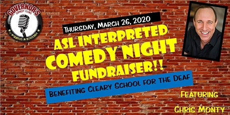 Cleary School for the Deaf - ASL Interpreted Comedy Night Fundraiser tickets