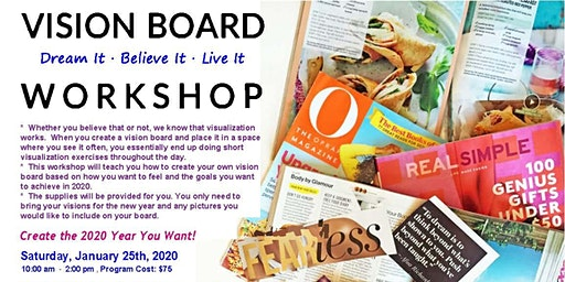 Vision Board Workshop: Make 2020 the Year You Want to Live!