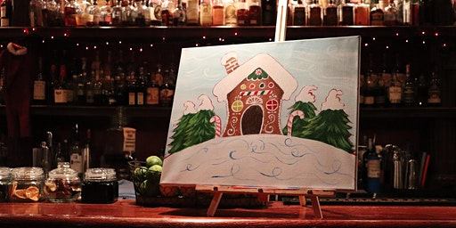 Gingerbread House Paint & Sip