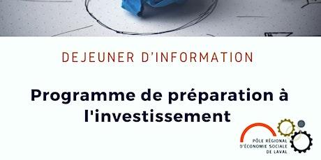 Déjeuner d'information sur l'appel à projet du PPI billets