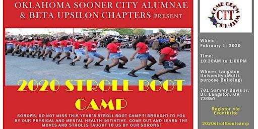 Beta Upsilon & Oklahoma Sooner City  2020 Stroll Boot Camp