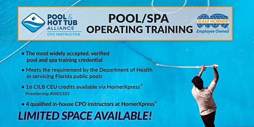 HornerXpress® PHTA Certified Pool/Spa Operator Training (Palm Beach)