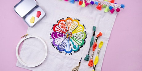 12 Stitch Embroidery Sampler Workshop tickets