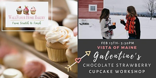 Galentine's Chocolate Strawberry Cupcake Workshop