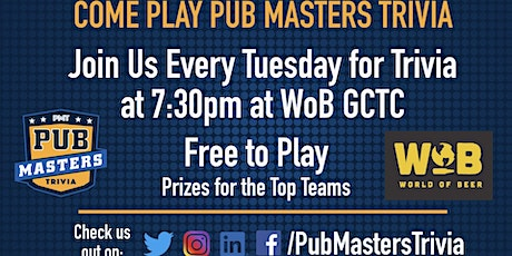 Pub Masters Trivia LIVE at World of Beer -Gulf Coast Town Center - Ft Myers tickets