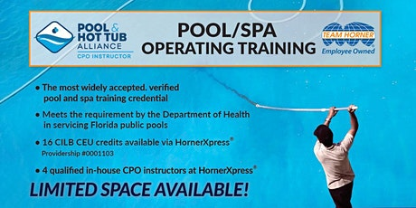 HornerXpress® PHTA Certified Pool/Spa Operator Training (Palm Beach) tickets
