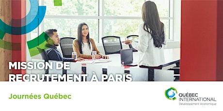 Mission de recrutement à Paris (Journées Québec) billets