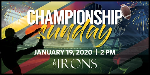 Championship Sunday Watch Party at The IRONS Restaurant & Bar, Mystic, CT