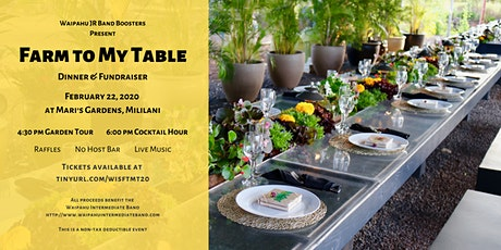 Farm to My Table tickets
