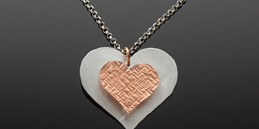 Warm Heart/Cold Connections Pendant/Keychain~Saw,Texture & Rivet