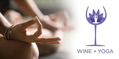 WINE + YOGA tickets