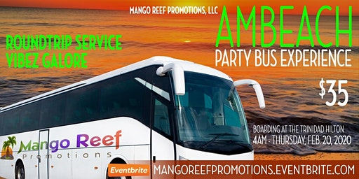 Mango Reef Promotions Shuttle Bus to AM Beach 2020
