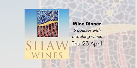 Shaw Wine Dinner tickets