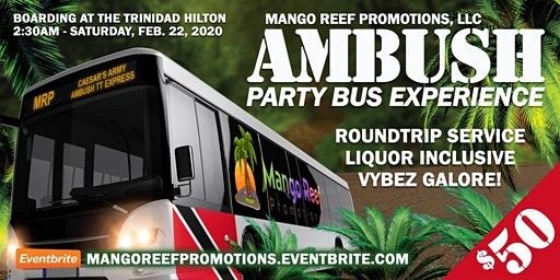 Mango Reef Promotions Party Bus Experience to AM Bush 2020