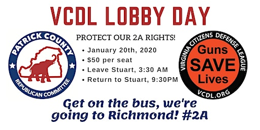 Patrick Co. GOP Bus to Richmond for Lobby Day! #2A