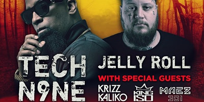 "Tech N9ne ""EnterFear Tour"" w/ Jelly Roll, KrizzKaliko, KingIso &  Maez301"
