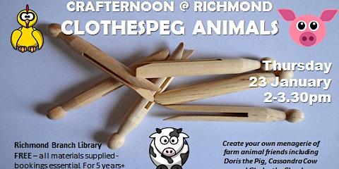 Summer School Holiday Program - Crafternoon @ Richmond - Clothespeg Animals