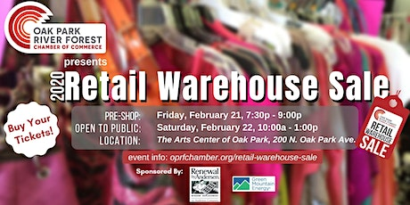OPRF Chamber Presents: Retail Warehouse Sale PRE-SHOP 2020 tickets