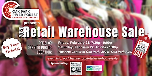 OPRF Chamber Presents: Retail Warehouse Sale PRE-SHOP 2020