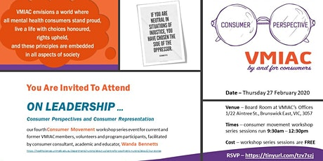 ON LEADERSHIP - Consumer Perspective and Consumer Representation tickets