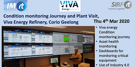 VICTAS Viva Energy Condition Monitoring Journey and plant visit - Corio Geelong tickets