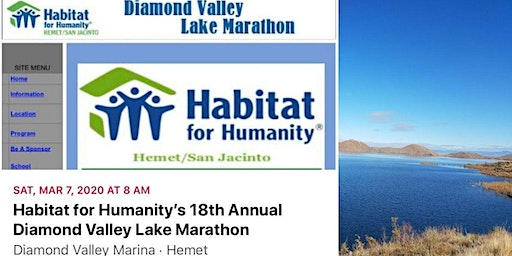 Habitat for Humanity's 18th Annual Diamond Valley Lake Marathon