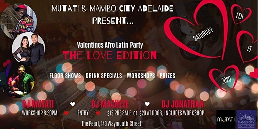 Valentines Afro Latin Party - The Love Edition