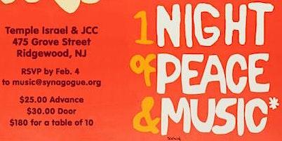 Ridgewoodstock Music & Art Fair presents a Night of Music, Peace, and Food