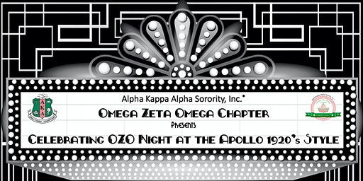 Celebrating OZO Night at the Apollo 1920's Style
