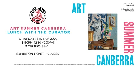 Art Summer Canberra Lunch with the Curator tickets