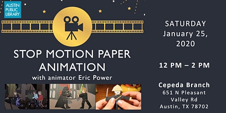 Stop Motion Paper Animation (with animator Eric Power) tickets