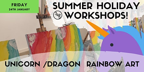 Summer School Holiday workshop: UNICORN rainbow art tickets
