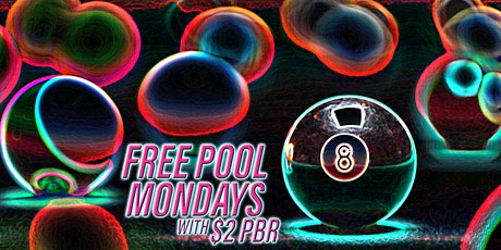 FREE Pool Monday tickets