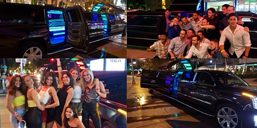 Miami VIP Nightclub Package 2 Hrs Premium Open Bar, Limo & Express Entry