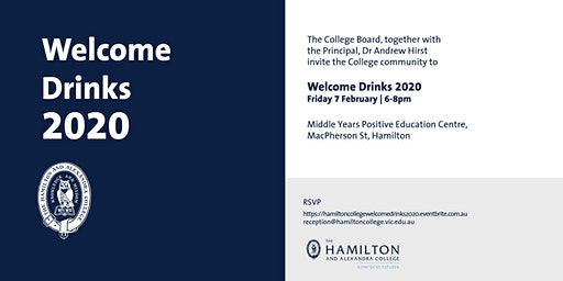 College Welcome Drinks 2020