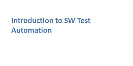 Introduction To Software Test Automation 1 Day Virtual Training in Helsinki tickets