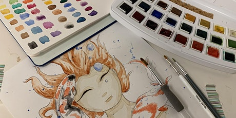 Illustration course: learn how to illustrate with watercolor tickets