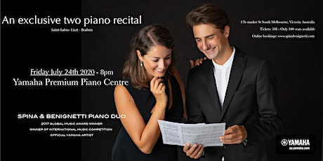 Spina & Benignetti Piano Duo at the Yamaha Premium Piano Centre Melbourne tickets