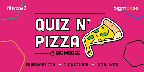 Pizza and Quiz at Big Moose Coffee tickets